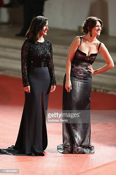 Actresses Inma Cuesta and Maria Botto attend 'Unforgiven' Premiere during the 70th Venice International Film Festival at Palazzo del Cinema on...