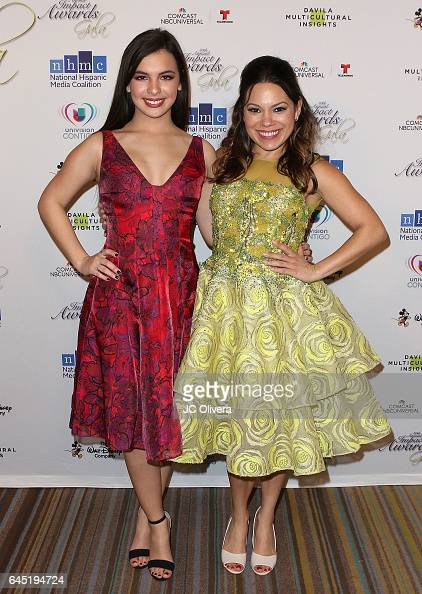 Actresses Isabella Gomez and Gloria Garayua attend the 20th Annual National Hispanic Media Coalition Impact Awards Gala at Regent Beverly Wilshire...