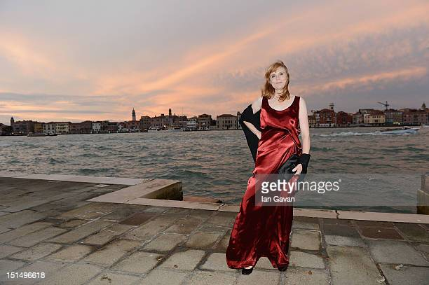 Actresses Isabelle Carre attends JaegerLeCoultre hosts 'Cherchez Hortense' dinner at Harry's Dolci Cipriani in Venice at Hotel Cipriani on September...