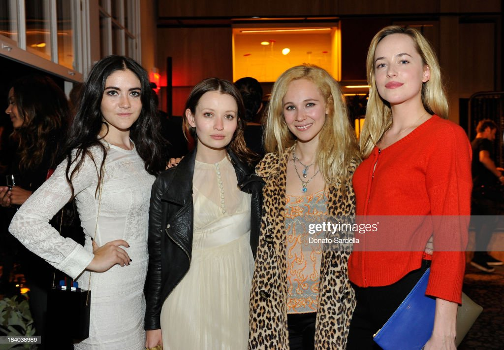 Actresses Isabelle Fuhrman Emily Browning Juno Temple and Dakoda Johnson attends Isabel Marant Milla Jovovich BBQ party to celebrate the 1st Year of...