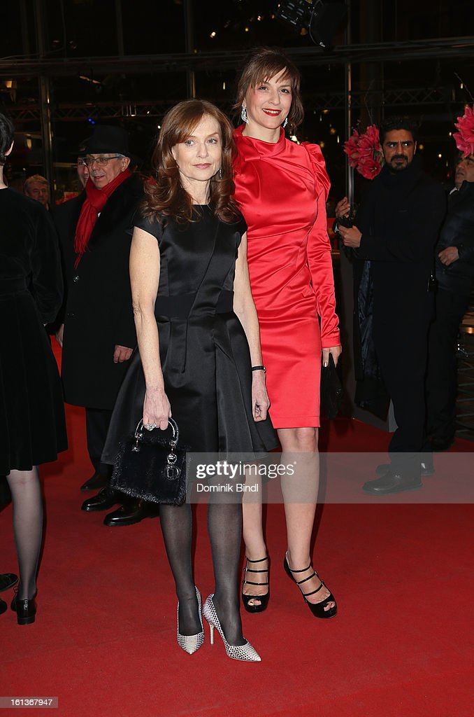 Actresses Isabelle Huppert and Martina Gedeck attend 'The Nun' Premiere during the 63rd Berlinale International Film Festival at Berlinale Palast on February 10, 2013 in Berlin, Germany.