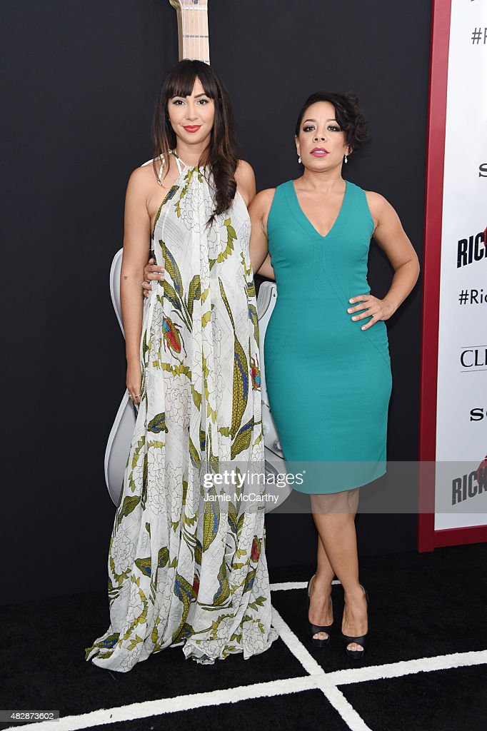 Actresses Jackie Cruz and Selenis Leyva attend the New York premier of 'Ricki And The Flash' at AMC Lincoln Square Theater on August 3, 2015 in New York City.