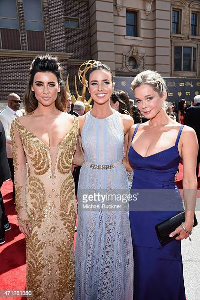 Actresses Jacqueline MacInnes Ashleigh Brewer and Jennifer Gareis attend The 42nd Annual Daytime Emmy Awards at Warner Bros Studios on April 26 2015...