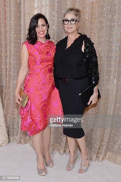 Actresses Jacqueline Mazarella and Roma Maffia attend the 18th Costume Designers Guild Awards with Presenting Sponsor LACOSTE at The Beverly Hilton...