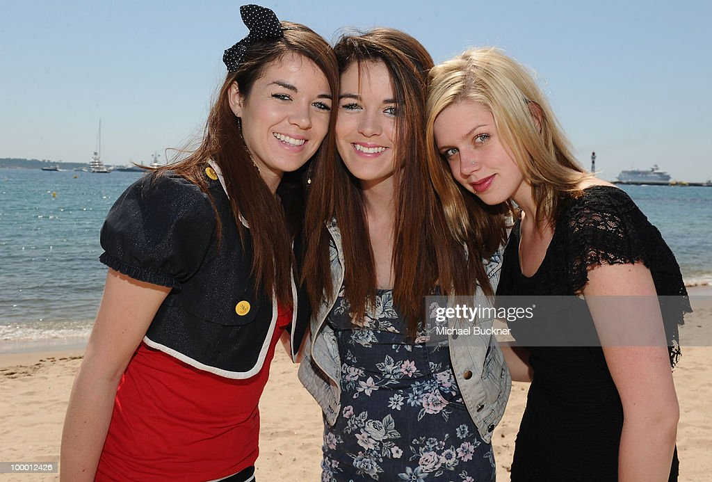 Actresses Jade Ramsey, Nikita Ramsey and Amanda Bauer attends the 'Myth of the American Sleepover' Photocall held at the American Pavillion during the 63rd Annual Cannes Film Festival on May 20, 2010 in Cannes, France.