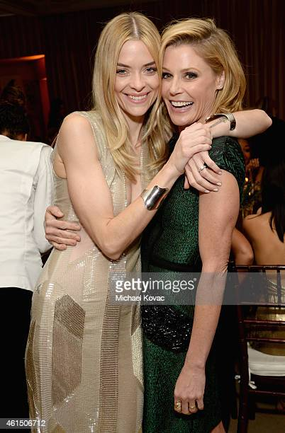 Actresses Jaime King and Julie Bowen attend ELLE's Annual Women in Television Celebration on January 13 2015 at Sunset Tower in West Hollywood...