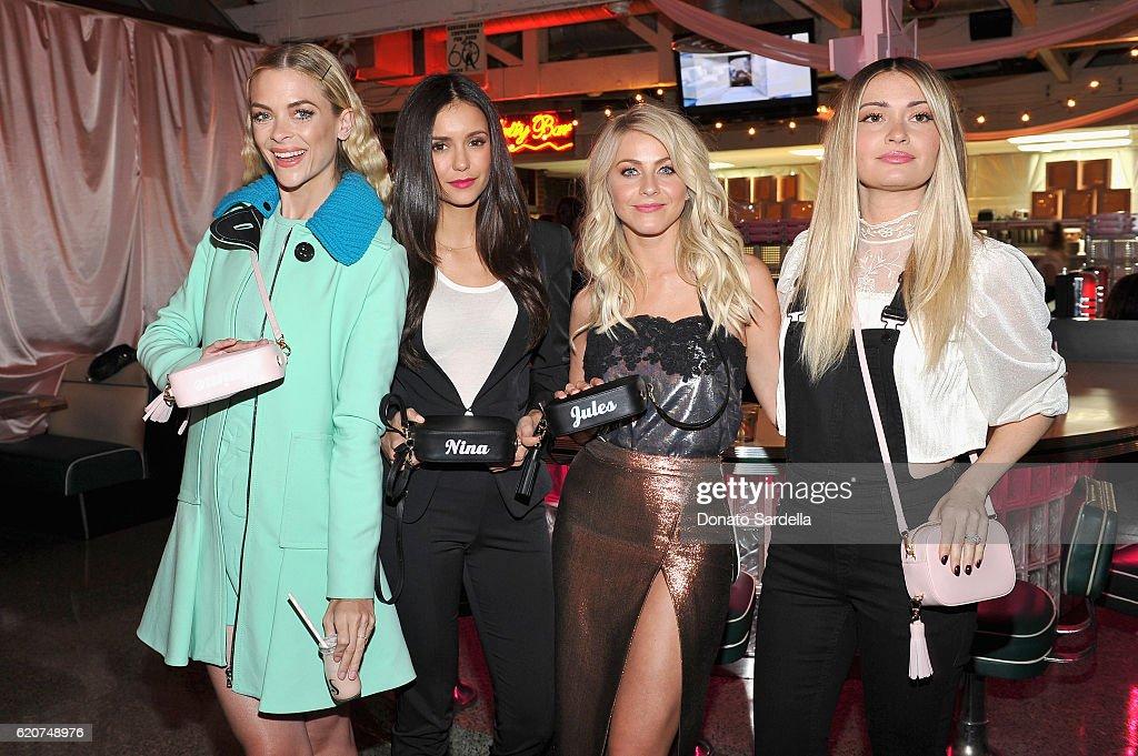 Actresses Jaime King, Nina Dobrev, Julianne Hough and Laura Marano attend Poppy Jamie, Suki Waterhouse, Leo Seigal and Cade Hudson celebration of the launch of POP & SUKI on November 2, 2016 in Los Angeles, California.