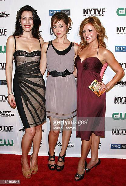 Actresses Jaime Murray Autumn Reeser and Christine Lakin attend the CW's 'Easy Money' premiere during the 2008 New York Television Festival at New...