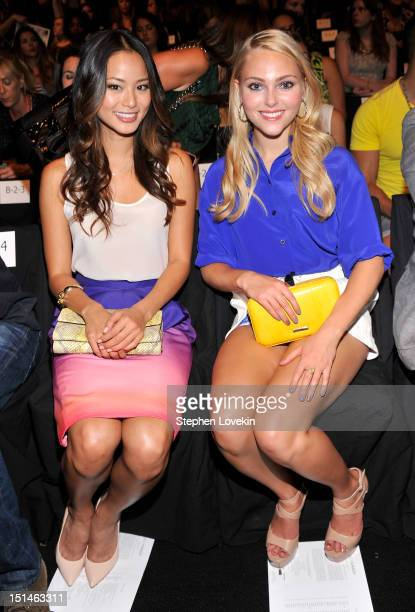Actresses Jamie Chung and AnnaSophia Robb attend the Rebecca Minkoff Spring 2013 fashion show during MercedesBenz Fashion Week at The Theatre Lincoln...