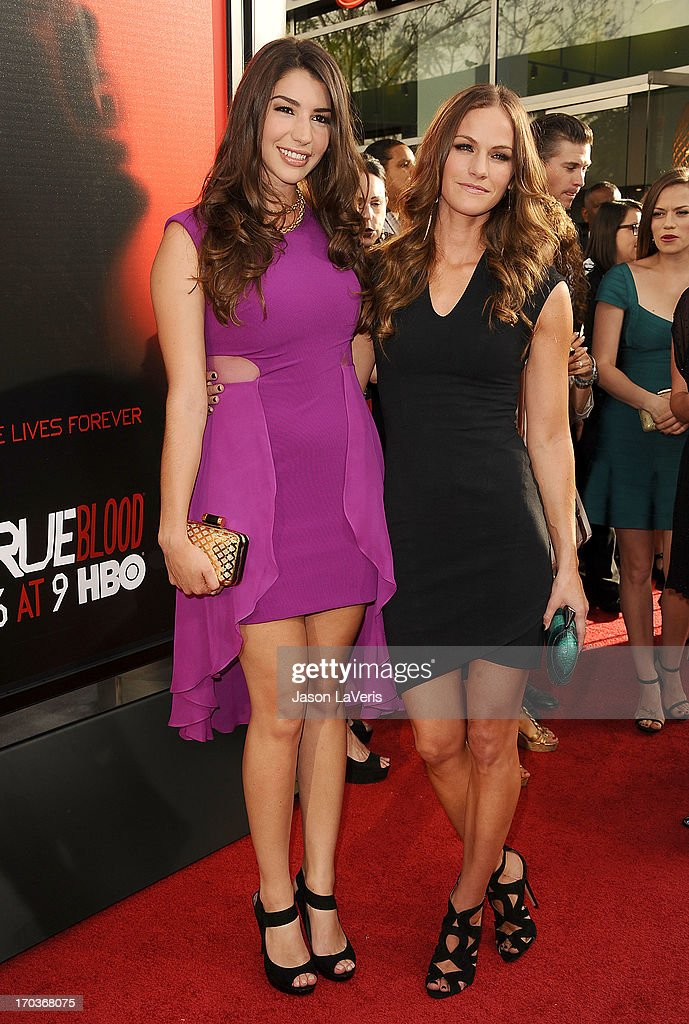 Actresses Jamie Gray Hyder and Kelly Overton attend the season 6 premiere of HBO's 'True Blood' at ArcLight Cinemas Cinerama Dome on June 11, 2013 in Hollywood, California.