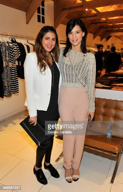 Actresses Jamie Lynn Sigler and Perrey Reeves attends Lily Aldridge for Velvet launch party in support of St Jude on February 11 2014 in Brentwood...