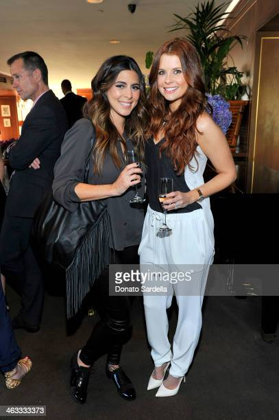 Actresses JamieLynn Sigler and Joanna Garcia attend Champagne Taittinger celebrate Men In Hollywood at Sunset Tower Hotel on January 17 2014 in West...