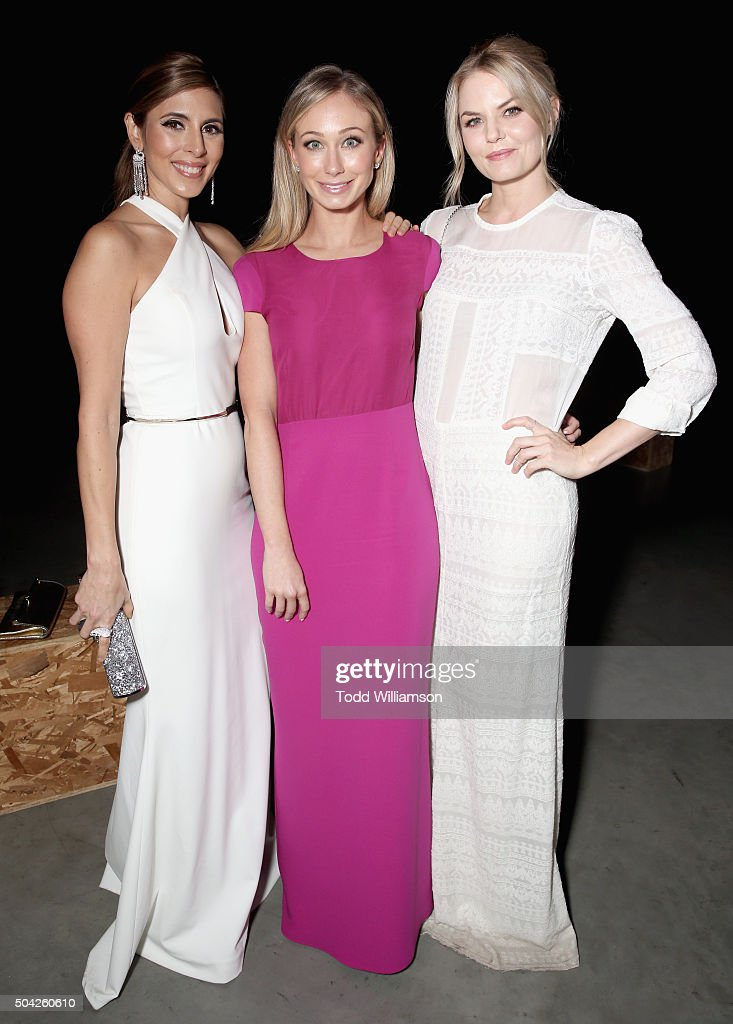 Actresses Jamie-Lynn Sigler, FOX executive Stephanie Herman Levinson and Jennifer Morrison attend The Art of Elysium 2016 HEAVEN Gala presented by Vivienne Westwood & Andreas Kronthaler at 3LABS on January 9, 2016 in Culver City, California.