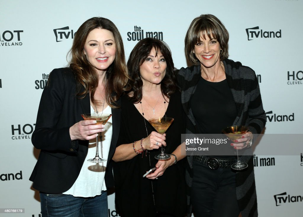 Actresses <a gi-track='captionPersonalityLinkClicked' href=/galleries/search?phrase=Jane+Leeves&family=editorial&specificpeople=213840 ng-click='$event.stopPropagation()'>Jane Leeves</a>, <a gi-track='captionPersonalityLinkClicked' href=/galleries/search?phrase=Valerie+Bertinelli&family=editorial&specificpeople=790177 ng-click='$event.stopPropagation()'>Valerie Bertinelli</a> and <a gi-track='captionPersonalityLinkClicked' href=/galleries/search?phrase=Wendie+Malick&family=editorial&specificpeople=206371 ng-click='$event.stopPropagation()'>Wendie Malick</a> attend the TV Land Goes LIVE! after party at the CBS Studio Center on March 26, 2014 in Studio City, California.