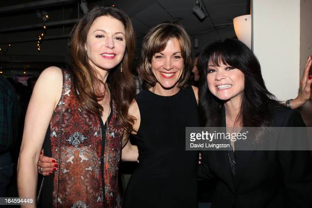 Actresses Jane Leeves Wendie Malick and Valerie Bertinelli attend the Celebration Theatre's '30 Years Of Celebration' benefit evening at The Colony...