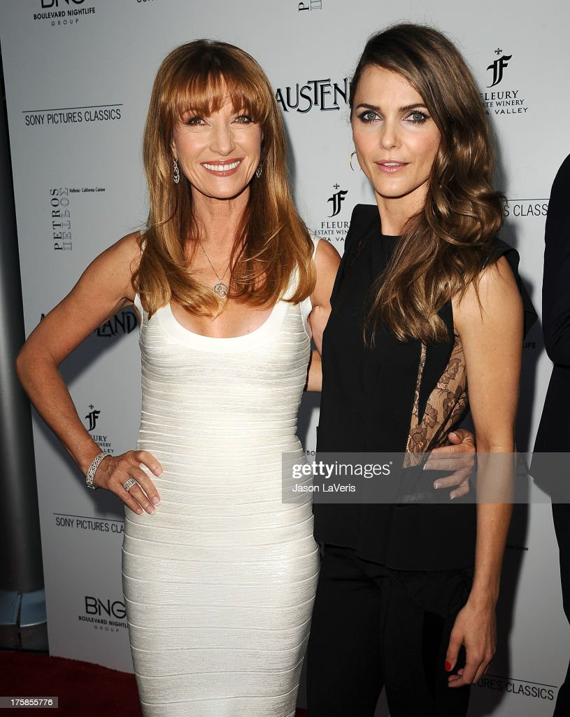 Actresses Jane Seymour and Keri Russell attend the premiere of 'Austenland' at ArcLight Hollywood on August 8, 2013 in Hollywood, California.