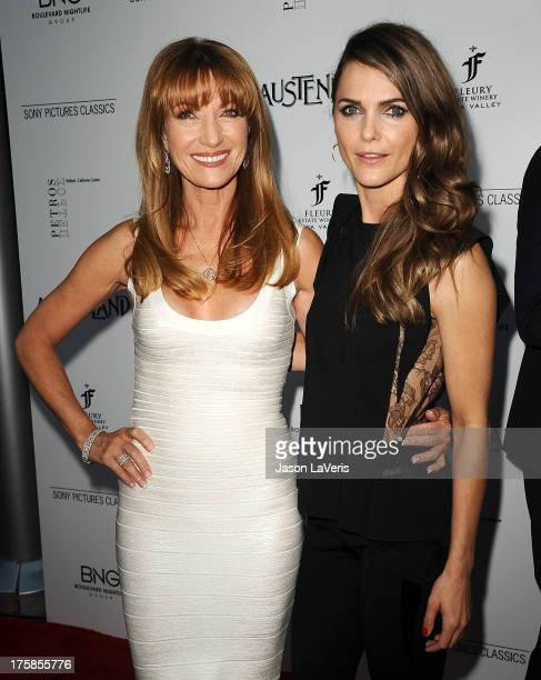 Actresses Jane Seymour and Keri Russell attend the premiere of 'Austenland' at ArcLight Hollywood on August 8 2013 in Hollywood California