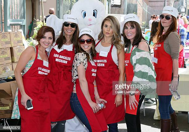 Actresses Jen Lilley Kristian Alfonso Kate Mansi Kelle Cantwell Kate Linder and Melissa Archer attend the Los Angeles Mission Easter event at the Los...