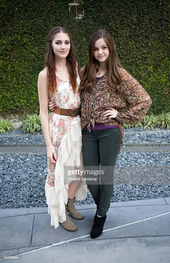 Actresses Jenna Stone and Megan Raich attend the Premiere Of 'Edge Of Salvation' at ArcLight Cinemas on December 6, 2012 in Hollywood, California.