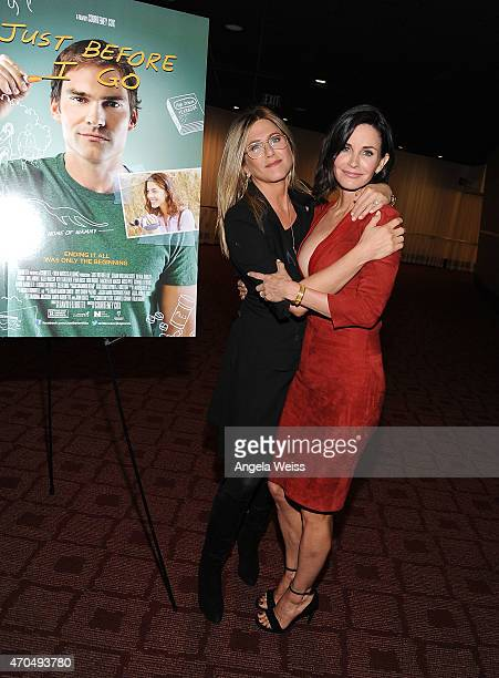 Actresses Jennifer Aniston and director Courteney Cox attend the Los Angeles Special Screening of 'Just Before I Go' at ArcLight Hollywood on April...