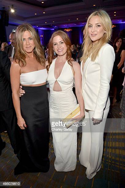 Actresses Jennifer Aniston Isla Fisher and Kate Hudson attend with FIJI Water at 29th American Cinematheque Awards honoring Reese Witherspoon on...