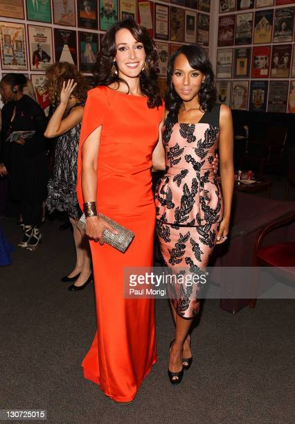Actresses Jennifer Beals and Kerry Washington attend the Susan G Komen for the Cure's Honoring the Promise benefit at John F Kennedy Center for the...