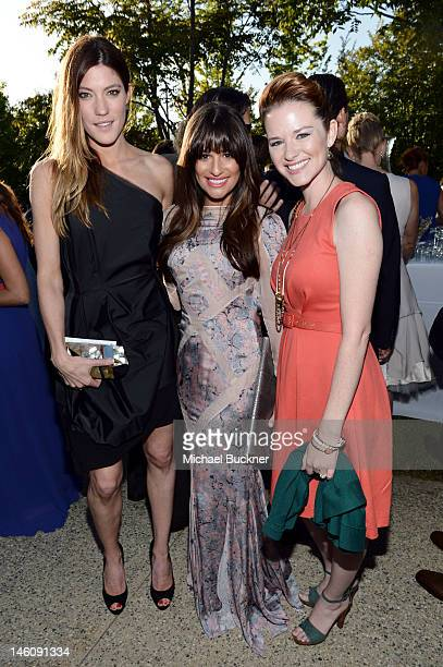 Actresses Jennifer Carpenter Lea Michele and Sarah Drew inside the 11th Annual Chrysalis Butterfly Ball sponsored by Audi Grey Goose Kayne Anderson...