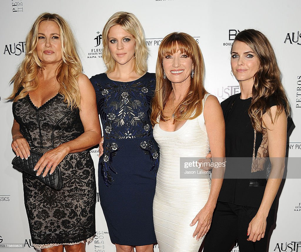 Actresses Jennifer Coolidge, Georgia King, Jane Seymour and Keri Russell attend the premiere of 'Austenland' at ArcLight Hollywood on August 8, 2013 in Hollywood, California.
