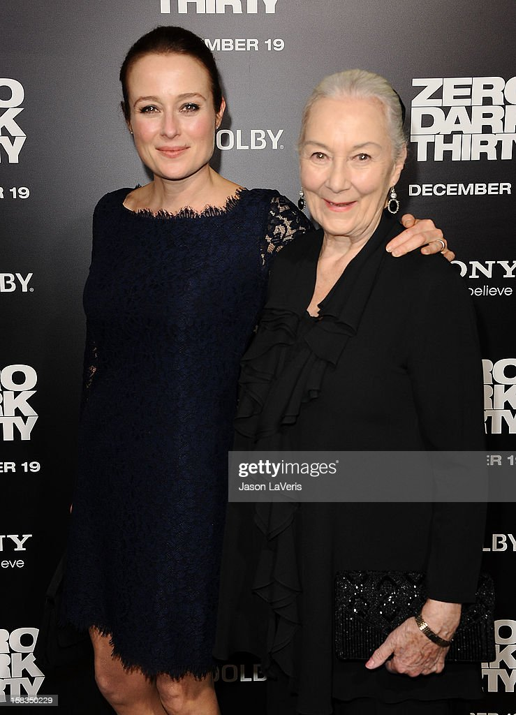 Actresses Jennifer Ehle and Rosemary Harris attend the premiere of 'Zero Dark Thirty' at the Dolby Theatre on December 10, 2012 in Hollywood, California.