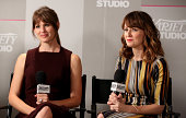 Actresses Jennifer Garner and Rosemarie DeWitt attend day 2 of the Variety Studio presented by Moroccanoil at Holt Renfrew during the 2014 Toronto...