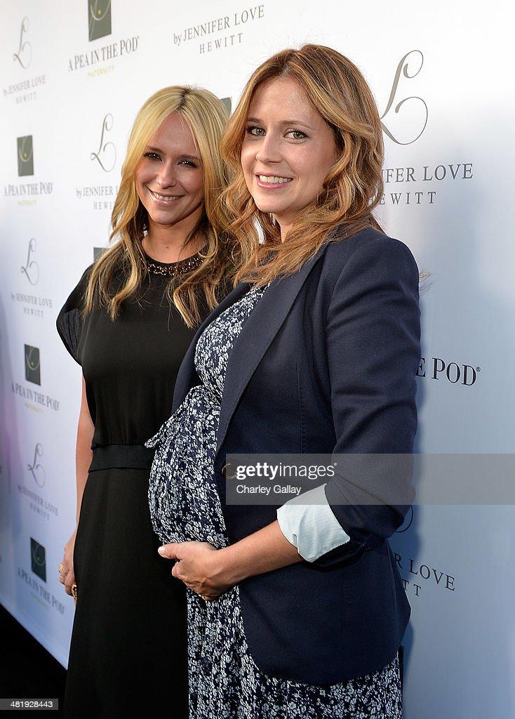 Actresses Jennifer Love Hewitt and Jenna Fischer celebrate the launch of Jennifer Love Hewitt's new maternity line 'L By Jennifer Love Hewitt' at A...
