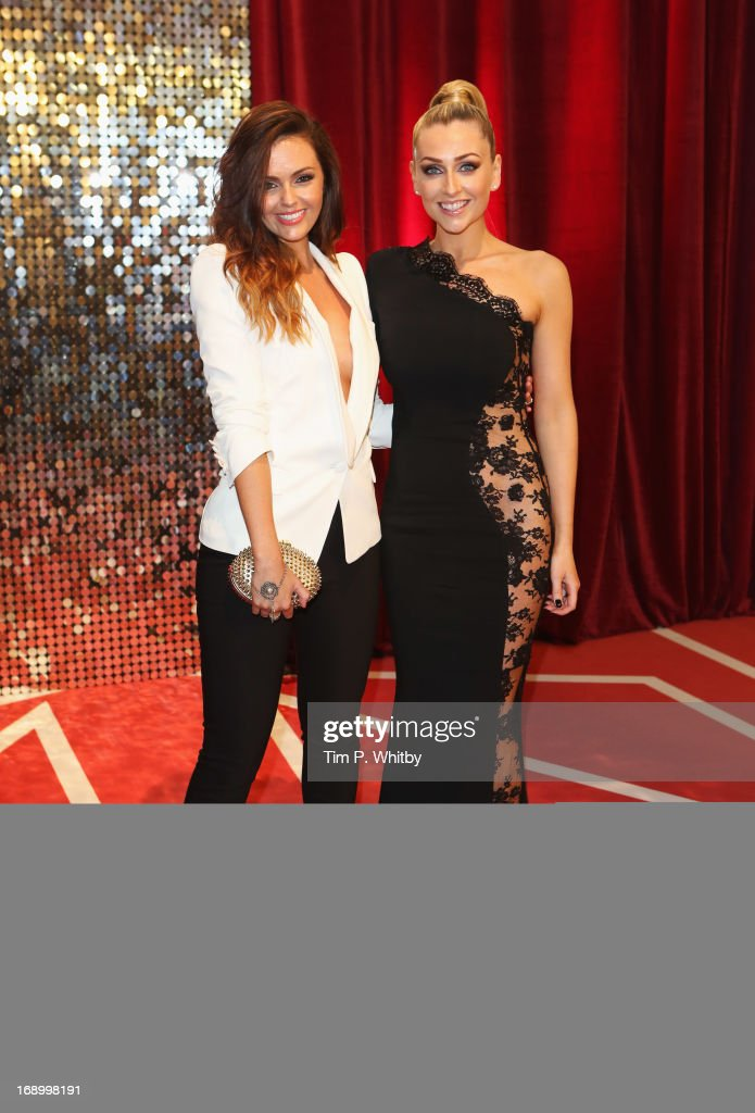 Actresses Jennifer Metcalfe (L) and Gemma Merna attend the British Soap Awards at Media City on May 18, 2013 in Manchester, England.
