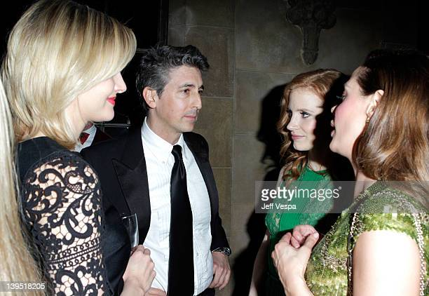 Actresses Jess Weixler Jessica Chastain and Rose McGowan attend a tribute to Sir Charles Chaplin by Carmen and Dolores Chaplin with the support of...