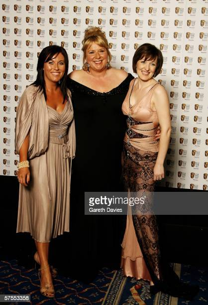 Actresses Jesse Wallace and Kacey Ainsworth and TV presenter Fern Britton pose in the Awards Room at the Pioneer British Academy Television Awards...