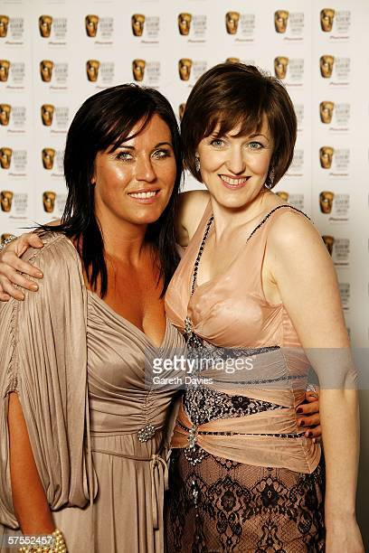 Actresses Jesse Wallace and Kacey Ainsworth pose in the Awards Room at the Pioneer British Academy Television Awards 2006 at the Grosvenor House...