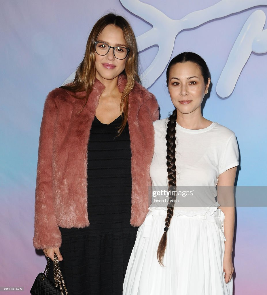 Actresses Jessica Alba and China Chow attend the premiere of 'SPF-18' at University High School on September 21, 2017 in Los Angeles, California.