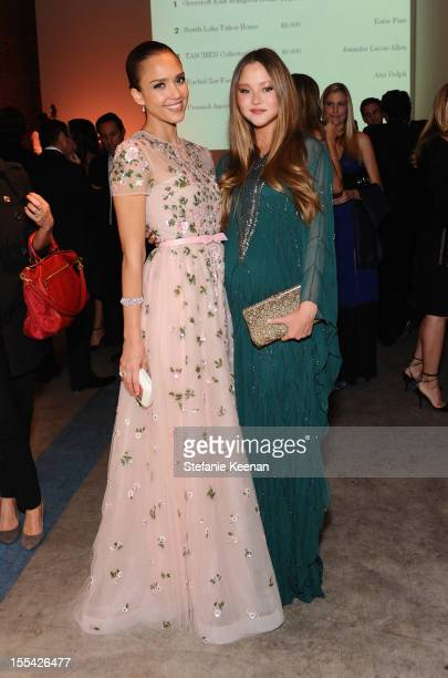 Actresses Jessica Alba and Devon Aoki attend the First Annual Baby2Baby Gala event presented by Harry Winston honoring Jessica Alba at Book Bindery...