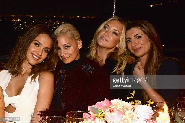 Actresses Jessica Alba Nicole Richie Kate Hudson and Nasim Pedrad attend Jessica Alba Humberto Leon and InStyle celebrate Honest Beauty and the...