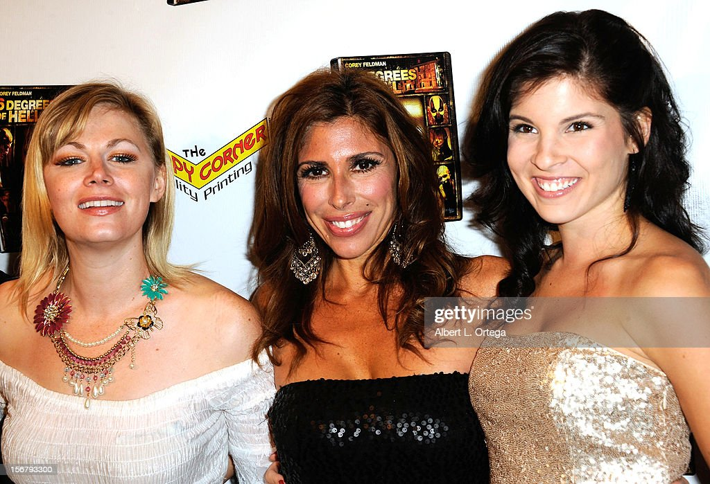 Actresses Jessica Cameron, Felissa Rose and Nicole Elise Ciacaglia arrive Premiere Of '6 Degrees Of Hell' - Arrivals held at Laemmle Music Hall 3 on November 20, 2012 in Beverly Hills, California.