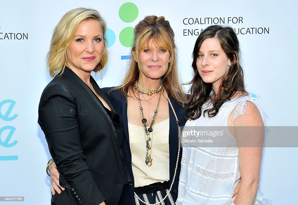 Actresses Jessica Capshaw, Kate Capshaw and actress Sasha Spielberg attend the first annual Poetic Justice Fundraiser for the Coalition For Engaged Education at the Herb Alpert Educational Village on May 28, 2014 in Santa Monica, California.