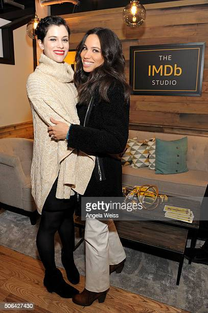 Actresses Jessica De Gouw and Jurnee SmollettBell in The IMDb Studio In Park City Utah Day Two on January 23 2016 in Park City Utah
