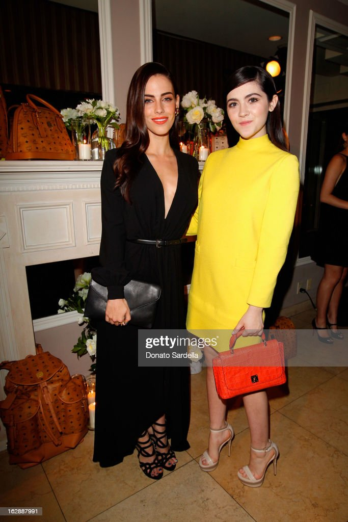 Actresses Jessica Lowndes and Isabelle Fuhrman attend the Dukes Of Melrose launch hosted by Decades, Harper's BAZAAR, and MCM on February 28, 2013 in Los Angeles, California.