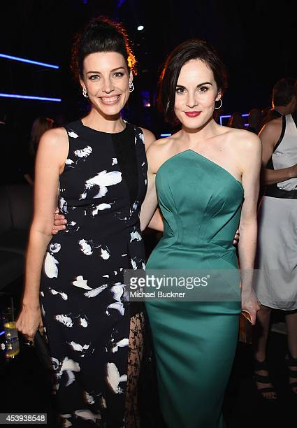 Actresses Jessica Pare and Michelle Dockery attend Audi's Celebration of Emmys Week 2014 at Cecconi's Restaurant on August 21 2014 in Los Angeles...