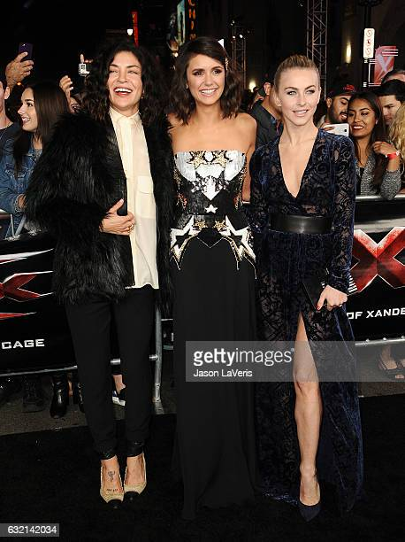 Actresses Jessica Szohr Nina Dobrev and Julianne Hough attend the premiere of 'xXx Return of Xander Cage' at TCL Chinese Theatre IMAX on January 19...