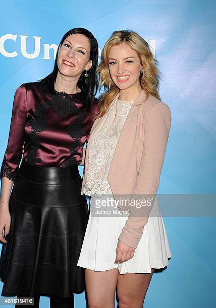 PASADENA CA JANUARY Actresses Jill Kargman and Abby Elliott attend the NBCUniversal 2015 Press Tour at the Langham Huntington Hotel on January 15...