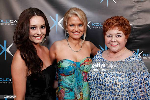Actresses Jillian Clare Jacee Jule and Patrika Darbo attend the 'Miss Behave' Premiere Launch Party at Cinespace on June 23 2010 in Hollywood...