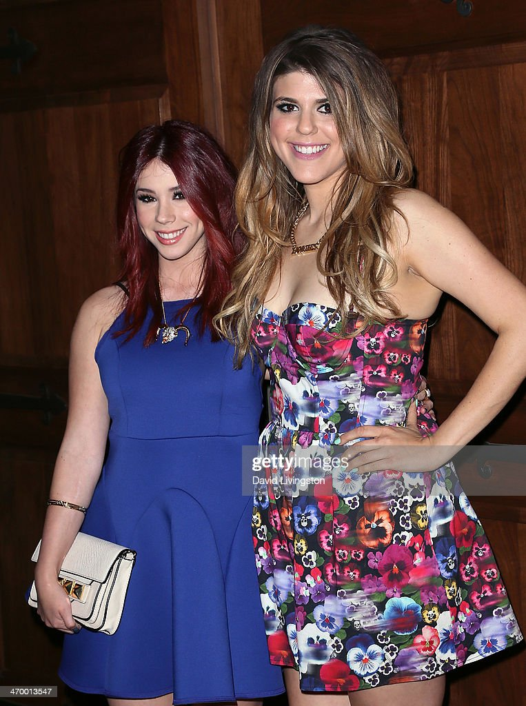 Actresses Jillian Rose Reed and Molly Tarlov attend the 'RuPaul's Drag Race' Season 6 premiere party at The Roosevelt Hotel on February 17 2014 in...