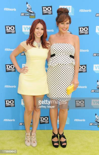 Actresses Jillian Rose Reed and Nikki DeLoach arrive at the DoSomethingorg and VH1's 2013 Do Something Awards at Avalon on July 31 2013 in Hollywood...