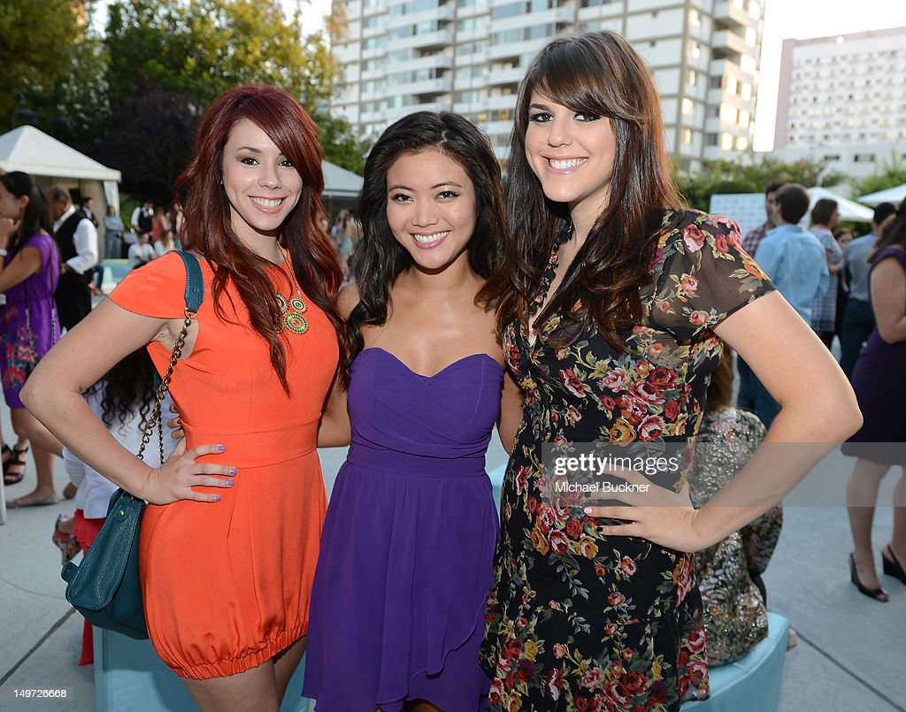 Actresses Jillian Rose Reed, Jessica Lu and Molly Tarlov attend Seventeen Magazine's September Issue Celebration with Kendall Jenner and Kylie Jenner at the W Hotel Westwood on August 2, 2012 in Westwood, California.