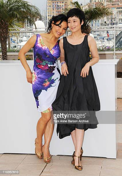 Actresses Joan Chen and Tao Zhao attends the 24 City photocall at the Palais des Festivals during the 61st Cannes International Film Festival on May...